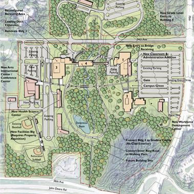Rockford University Campus Map.Moraine Valley Community College Demonica Kemper Architects
